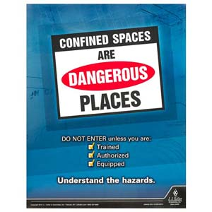 Confined Spaces: Entry Team Training - Awareness Poster