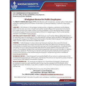 Massachusetts Right to Know Poster