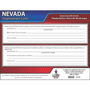 Nevada Payday Notice Poster