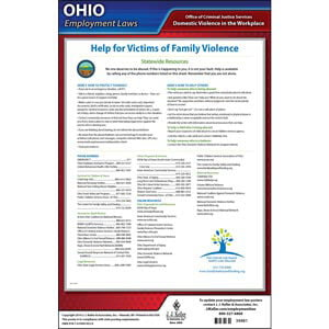 Ohio Workplace Domestic Violence Poster