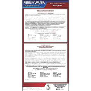 Pennsylvania Public Accommodation Provisions Poster