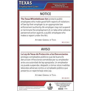 Texas Whistleblower Poster