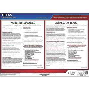 Texas Hazard Communication Act Poster