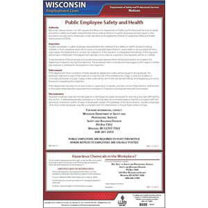 Wisconsin Workplace Safety & Health for Public Employees Poster