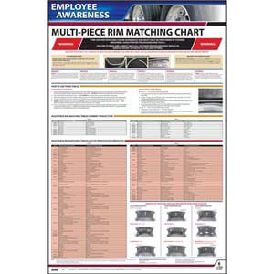 Multi-Piece Rim Matching Chart (OSHA 3403) - Employee Awareness Poster