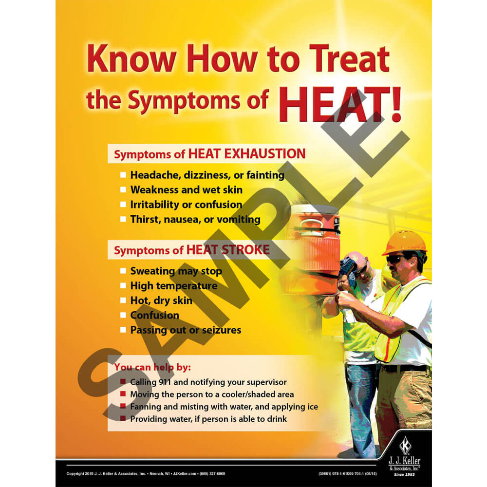 Symptoms of Heat - Construction Safety Poster