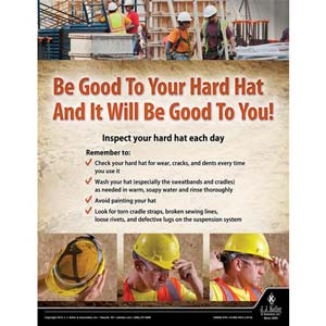 Hard Hats - Construction Safety Poster