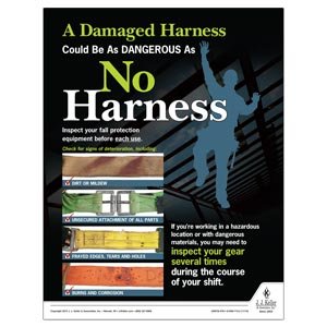 Harness - Construction Safety Poster