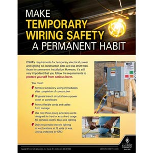 Wiring Safety - Construction Safety Poster