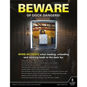 Beware of Dock Dangers - Driver Awareness Safety Poster