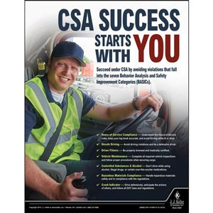 CSA Success - Driver Awareness Safety Poster