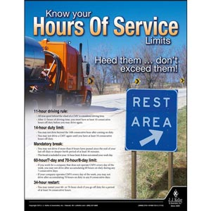 Hours of Service - Driver Awareness Safety Poster