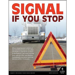 Signal If You Turn - Driver Awareness Safety Poster