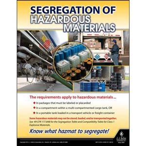Segregation of Hazardous Materials - Hazmat Transportation Poster