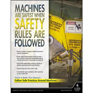 Machines Are Safest - Workplace Safety Advisor Poster