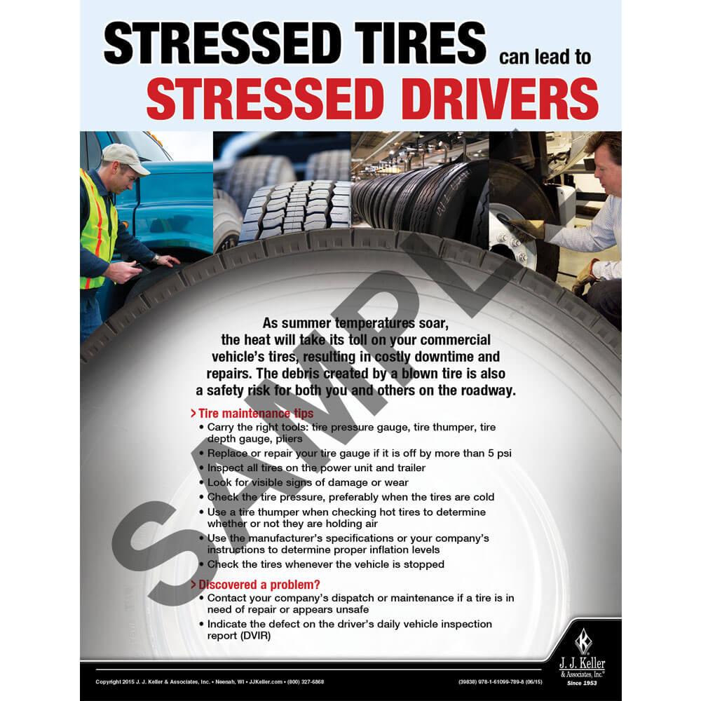 Stressed Tires - Transportation Safety Risk Poster