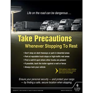 Take Precautions - Transportation Safety Risk Poster