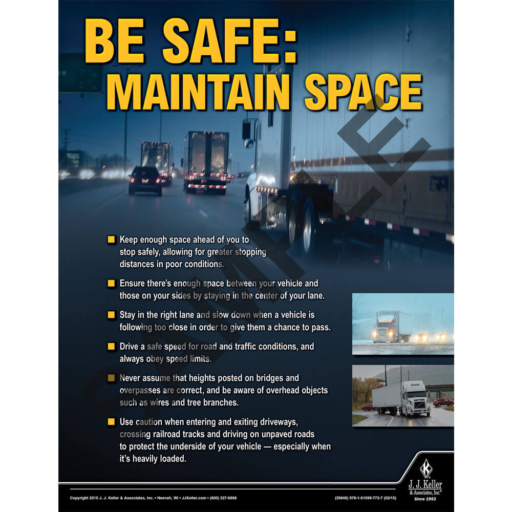 Maintain Space - Transportation Safety Risk Poster