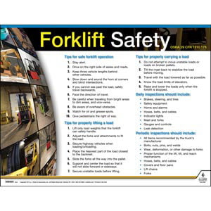 Forklift Safety Instructional Chart