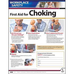 First Aid: Choke Saving Instructional Chart