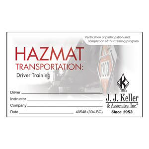 Hazmat Transportation: Driver Training - Wallet Cards