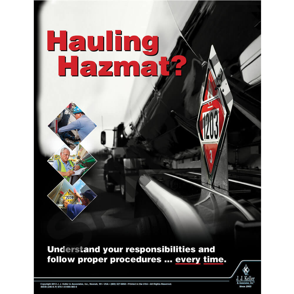 Hazmat Transportation: Driver Training - Awareness Poster
