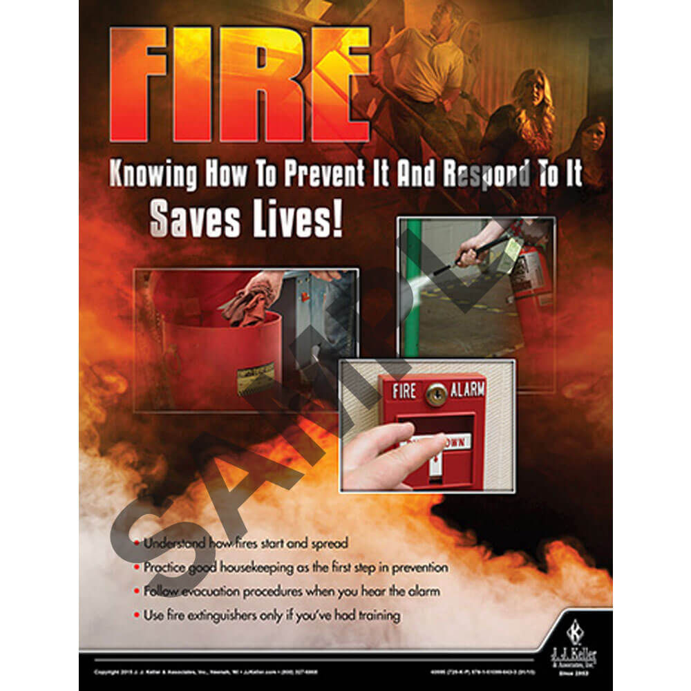 Fire Prevention & Response: What Employees Need to Know - Awareness Poster