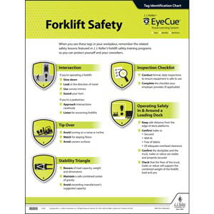 EyeCue® Forklift Safety Laminated Poster