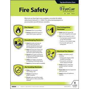 EyeCue® Fire Safety Laminated Poster