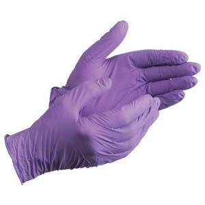 Purple Powder-Free Nitrile Exam Gloves