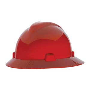 MSA V-Gard® Fas-Trac Ratchet Suspension System Hard Hat