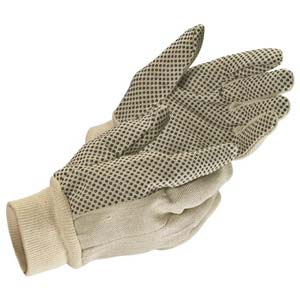 MCR Safety Canvas PVC Dot Gloves