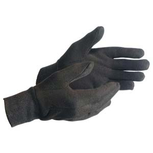MCR Safety Brown Jersey Gloves - Unlined