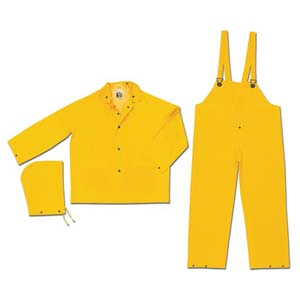 MCR Safety® 2003 3-Piece Snap Front Jacket & Bib Pant Rainsuit