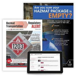 Hazmat Transportation Regulatory Alert Newsletter