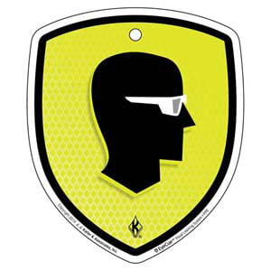 EyeCue® Tags - PPE Eye Protection Reminder