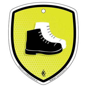 EyeCue® Tags - PPE Foot Protection Reminder