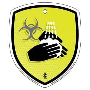 EyeCue® Tags - Bloodborne Pathogens Wash Hands Reminder