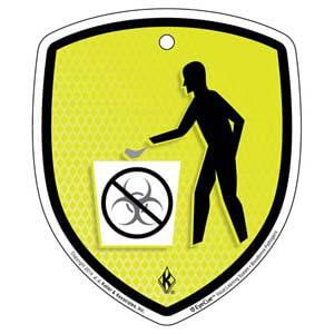 EyeCue® Tags - Bloodborne Pathogens No Biohazards In Regular Waste Container Reminder