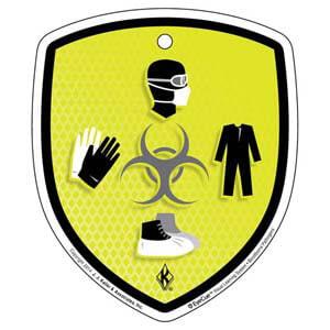EyeCue® Tags - Bloodborne Pathogens Biohazard PPE Reminder