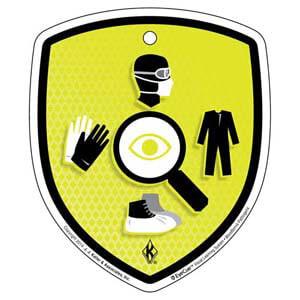 EyeCue® Tags - Bloodborne Pathogens PPE Inspection Reminder