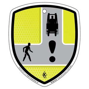 EyeCue® Tags - Forklift Intersection Hazard Reminder