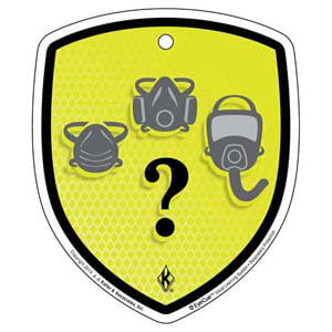 EyeCue® Tags - Respiratory Protection Selecting PPE Reminder