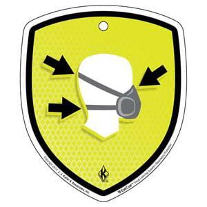 EyeCue® Tags - Respiratory Protection Fitting Respirators Reminder