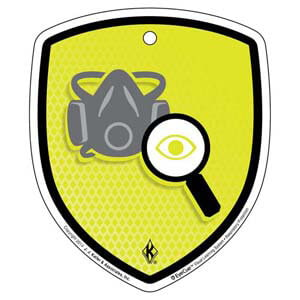 EyeCue® Tags - Respiratory Protection Inspecting Respirators Reminder