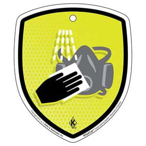 EyeCue® Tags - Respiratory Protection Cleaning Respirators Reminder