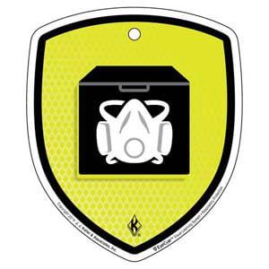 EyeCue® Tags - Respiratory Protection Storing PPE Reminder