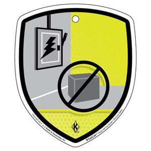EyeCue® Tags - Electrical Safety Don't Store Materials Here Reminder