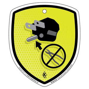 EyeCue® Tags - Electrical Safety Don't Remove Ground Prong Reminder