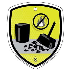 EyeCue® Tags: Fire Safety Housekeeping Reminder